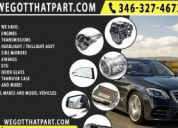 Auto parts for sale, engines and transmissions, he