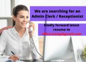 Admin clerk / receptionist