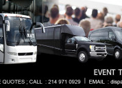 Luxury limousine texas
