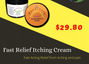 Fast relief itching cream-with 25 natural organic