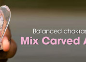 Balanced chakras with mix carved angel