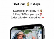 Now hiring- delivery drivers and earn more