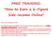 Free training: