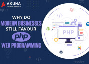 Why do modern businesses still favour php web prog
