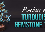 Purchase our turquoise gemstone tree