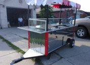 Custom-built hot dog carts