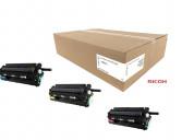 Ricoh 406663 drum unit set includes 1 each of c, m