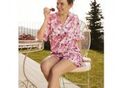 Pink nightdress v-neck vintage sleepwear female