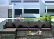 Outsunny outdoor sectional cheap wicker patio