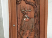 Get attractive layouts of hand carved tree doors