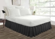 Grey bed skirt in a variety of multiple sizes