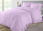 Soft & luxury lilac duvet cover at an affordable price