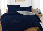 Navy blue duvet cover available in variety of multiple colors