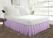 Top quality lilac ruffled bed skirt