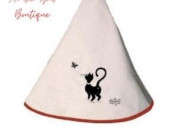 Buy round hand towel with loop from au bon gout boutique