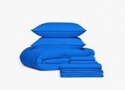 Royal blue bedding in a bag