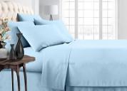 Light blue bed in a bag