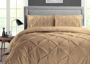 Create a perfect classy room with taupe duvet cover