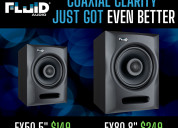 The fluid audio fx 50 and fx 80 - coaxial monitor