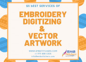 Get best services of vector art and embroidery dig