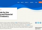 Low-code for the banking and financial services in