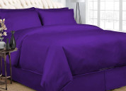 Purple bedding in a bag