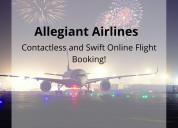 Allegiant airlines contactless online booking!