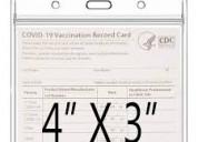 Qlofy 2 pcs clear plastic pvc card