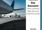 Tourism day discount | call airline reservations +