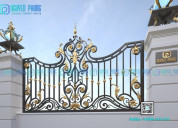 Custom high-end wrought iron fence panels