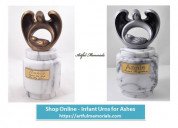 Infant urns for ashes - buy a best memorial urn fo