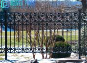Wrought iron exterior railings for porches, decks
