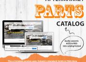 Aftermarket auto parts catalog