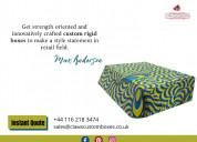 Elegant packaging solution for rigid boxes