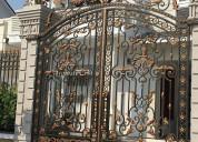 High-quality custom wrought iron gate, driveway ga