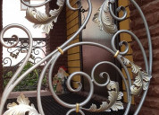 Crafted wrought iron exterior artistic railings