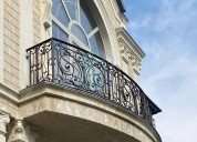 Strong & elegant wrought iron railings for stairs,