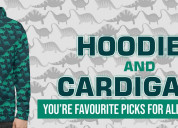 Get the hoodies and cardigans at svaha usa