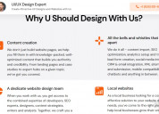 Deployment of seo optimized websites and design